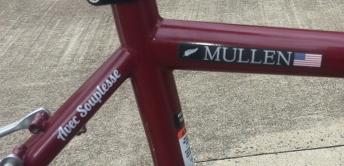 Close-up of new bike logos
