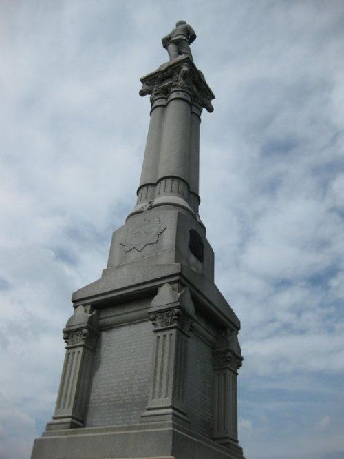 Monument to the Fifth Michigan, Custer's unit, at the East Cavalry Field