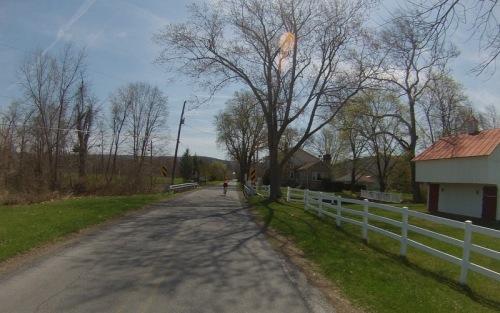 Riding Pennsylvania country lanes.